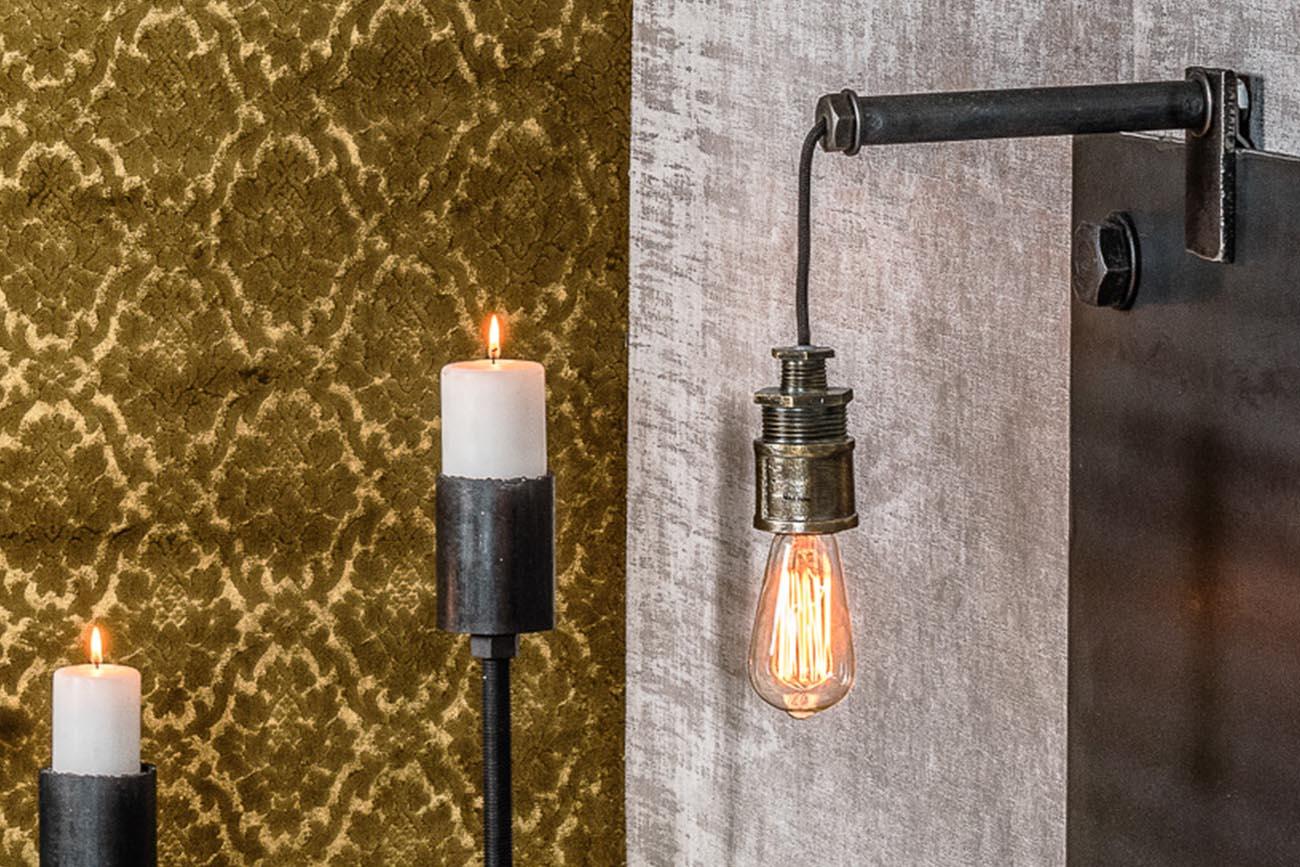 Cool lampa i stål