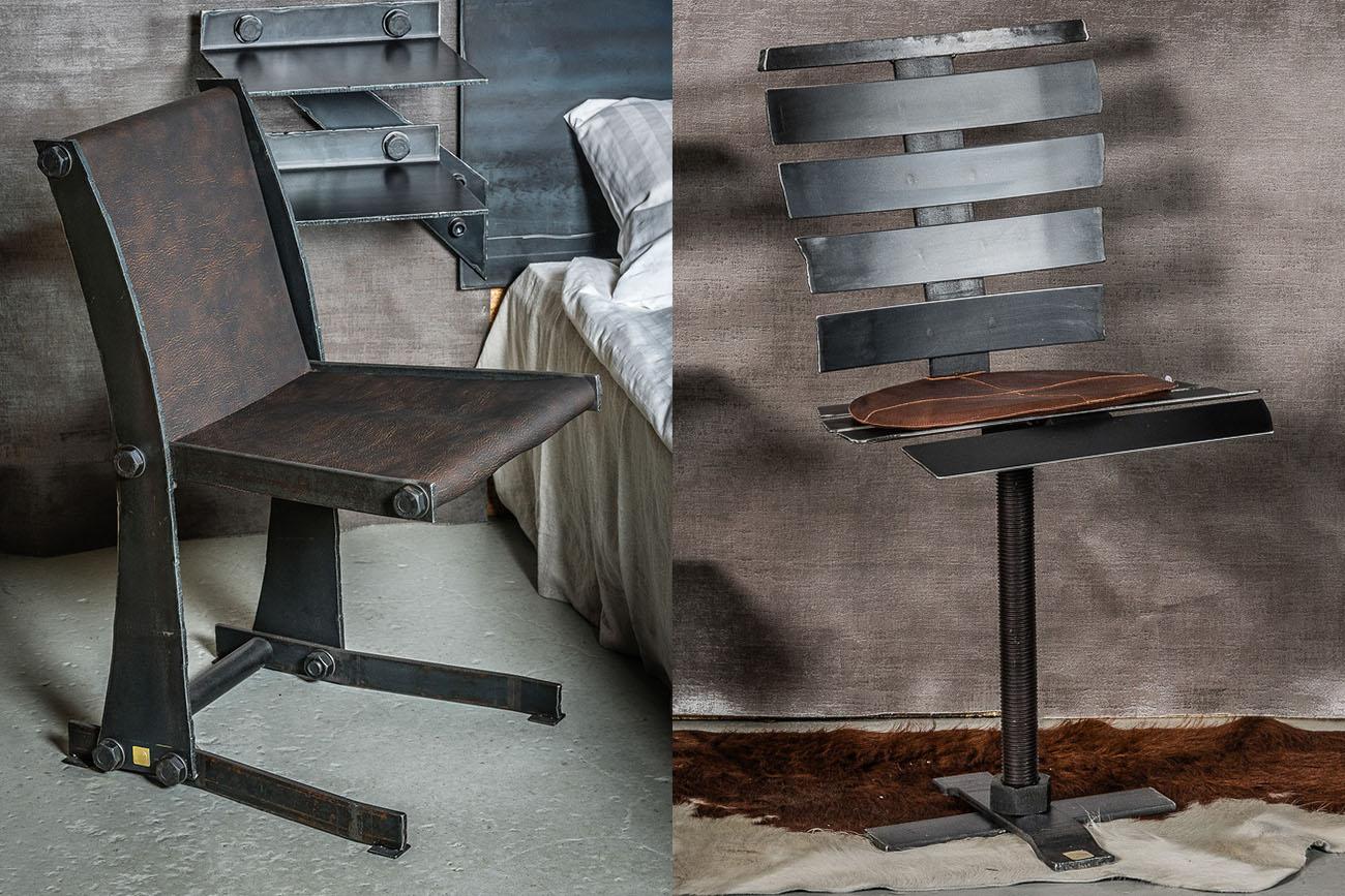 Stolar gjorda av stål