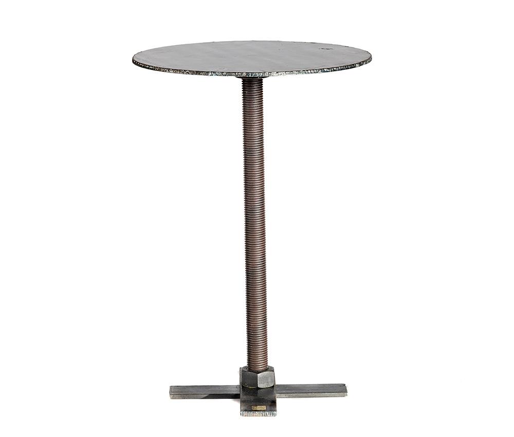 runt bord i stål